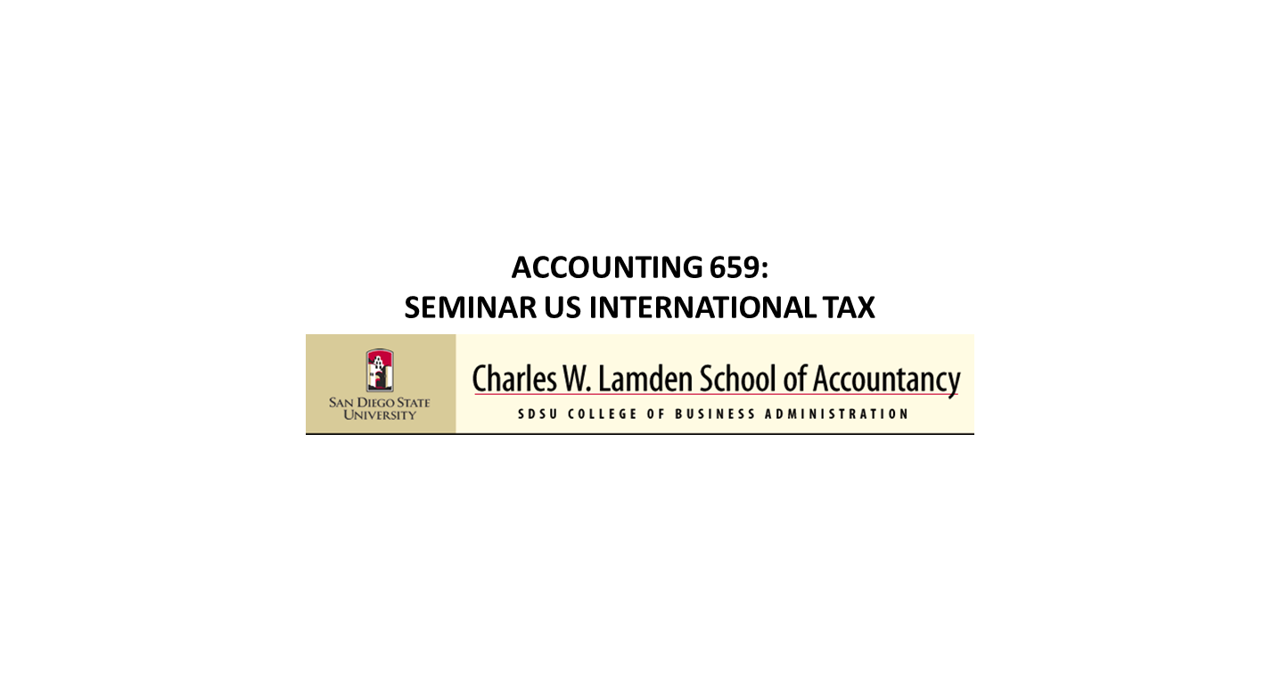 International tax course