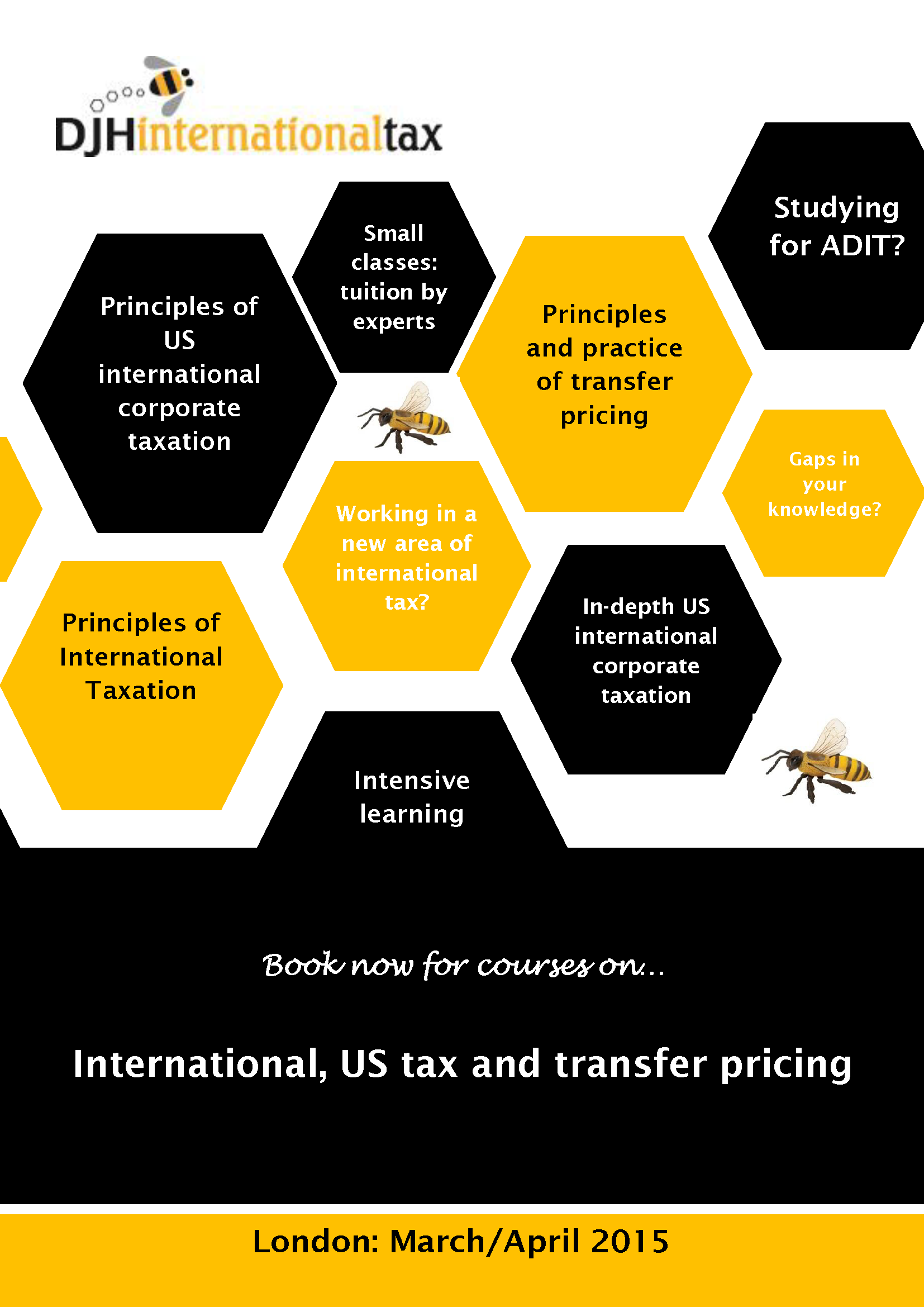 DJH International Tax – Live, Compact Training Courses – March 2015