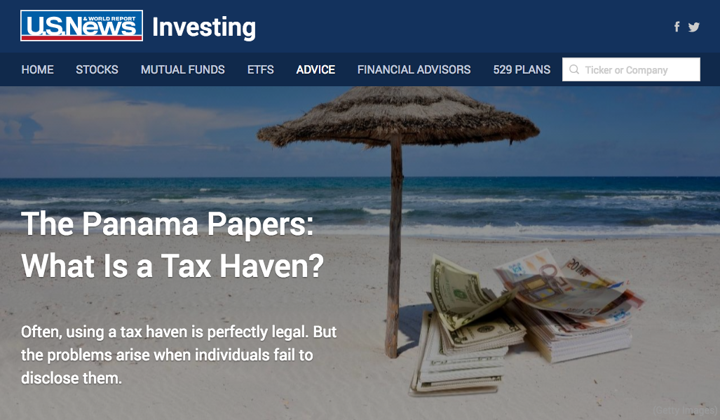 The Panama Papers: What Is a Tax Haven?
