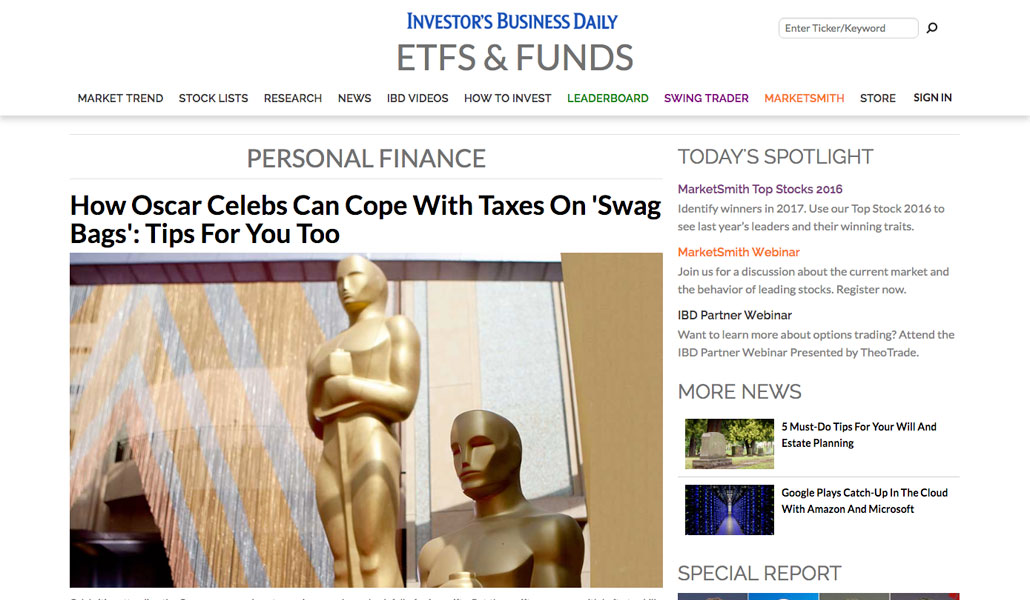 How Oscar Celebs Can Cope With Taxes On 'Swag Bags': Tips For You Too